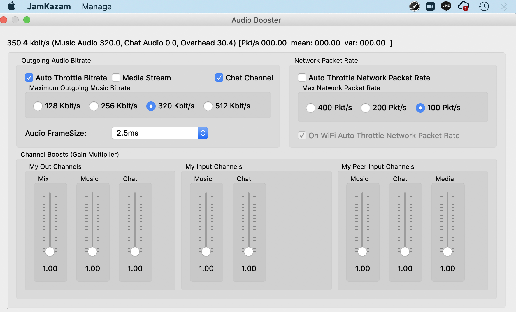 audio booster settings