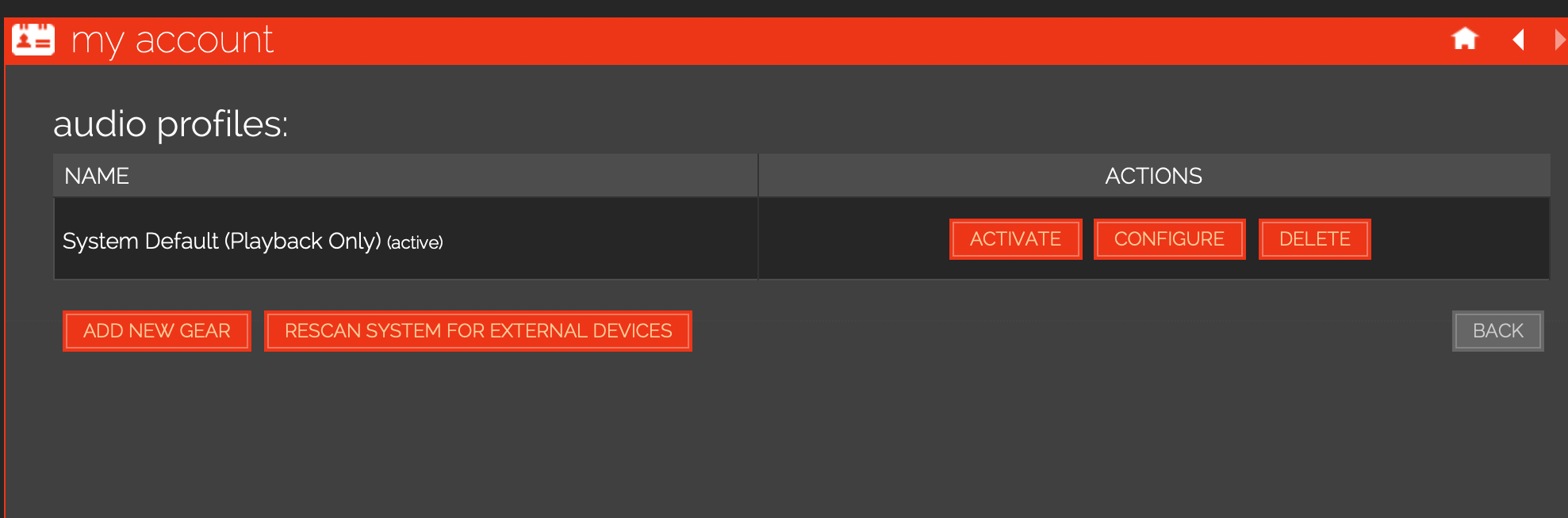 audio profile update